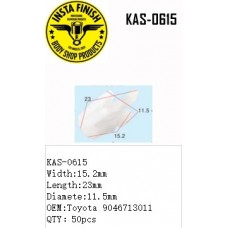 Insta Finish White Clip for Toyota, Widt...