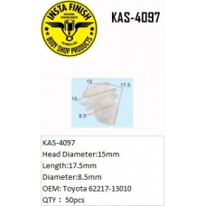 Insta Finish White Clip for Toyota, Head...