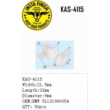 Insta Finish White Clip for BMW, Width:2...