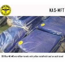 Micro Fiber cloth, 40x40, Blue with logo...