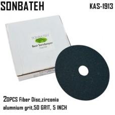 Sonbateh Green Fibre Disc, 50 grade, 5 i...