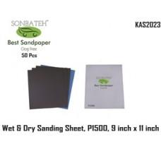 Sonbateh Wetordry Sheet, P1500A Grit, 9 ...